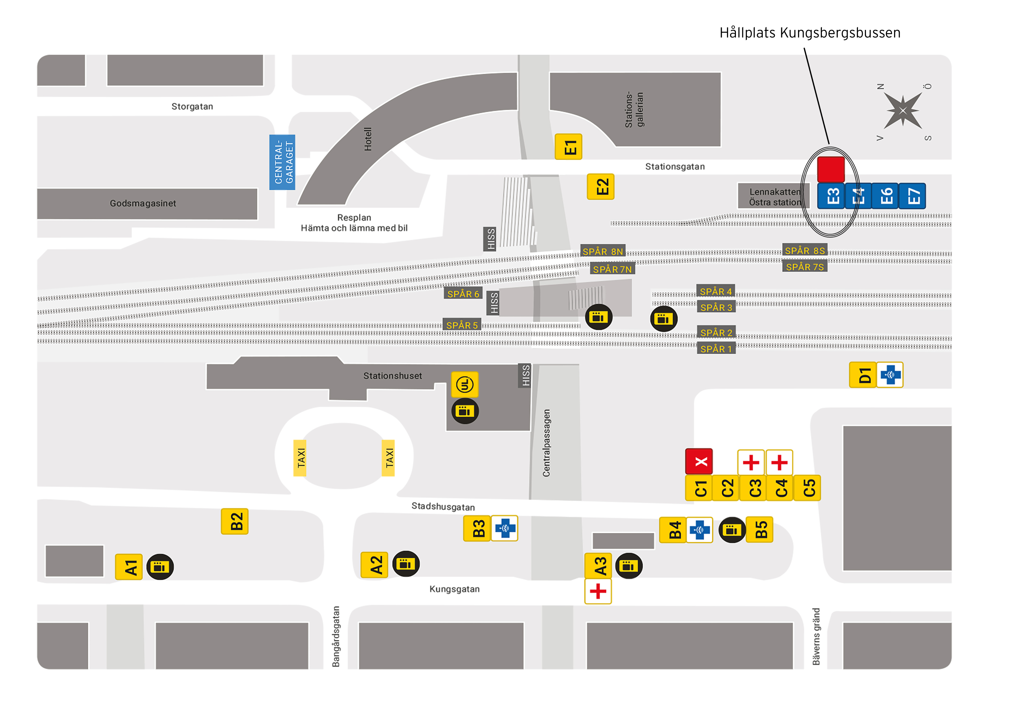 Stationskarta Uppsala
